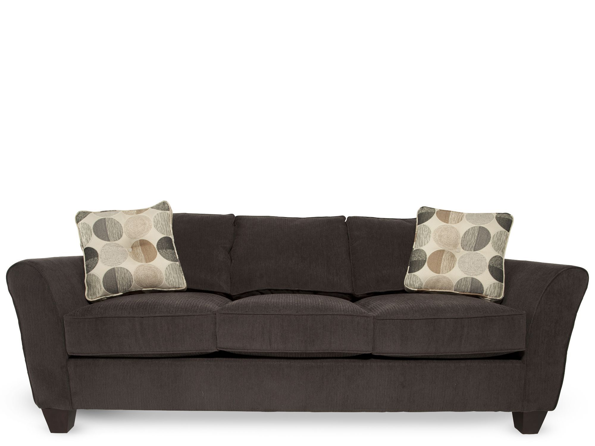 Microfiber Corduroy 87u0026quot; Sofa In Charcoal