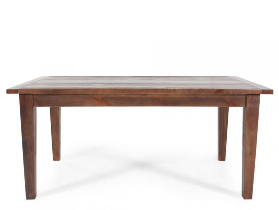 "68"" Plank Top Casual Dining Table in Natural Brown"