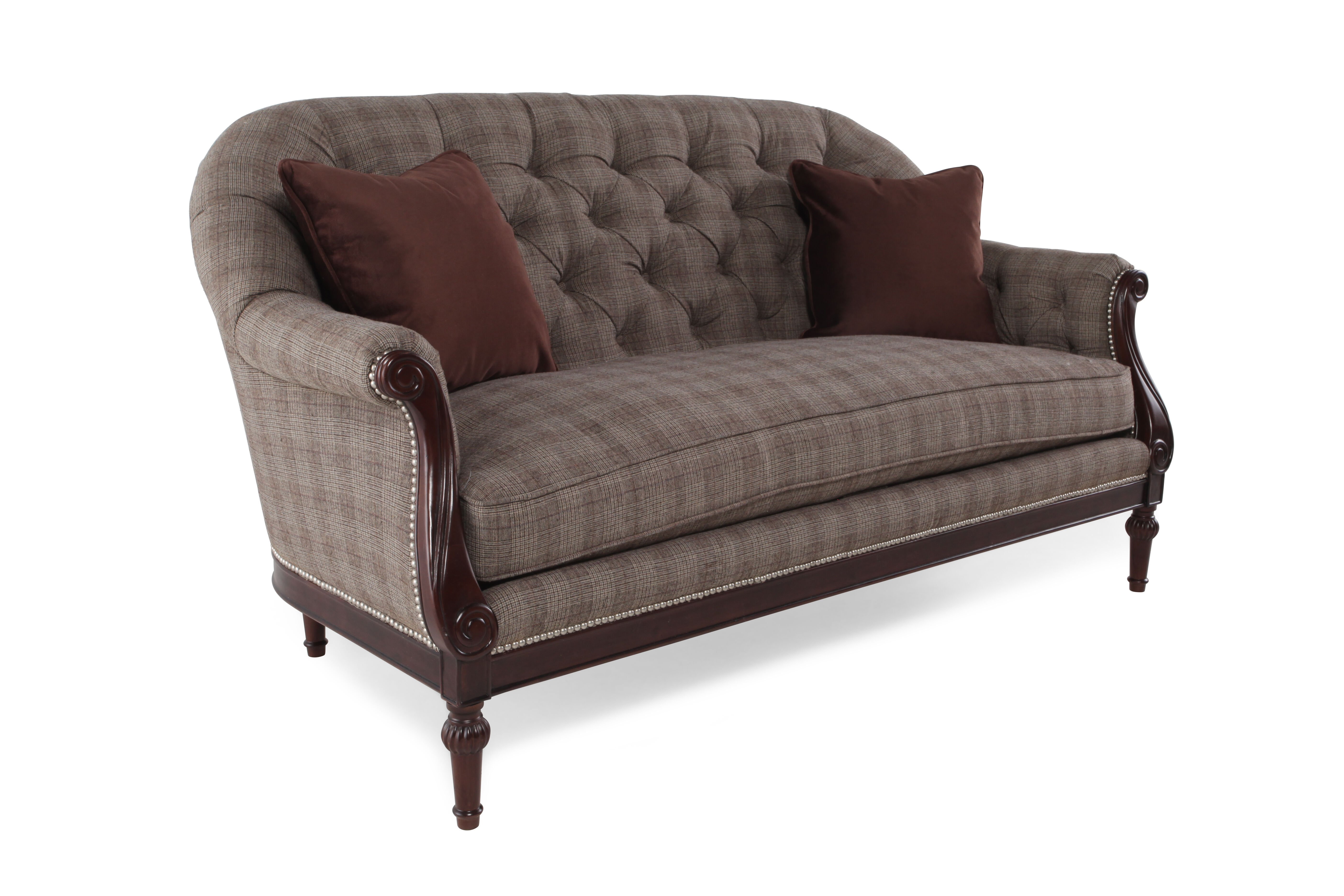 Button Tufted Traditional 66u0026quot; ...