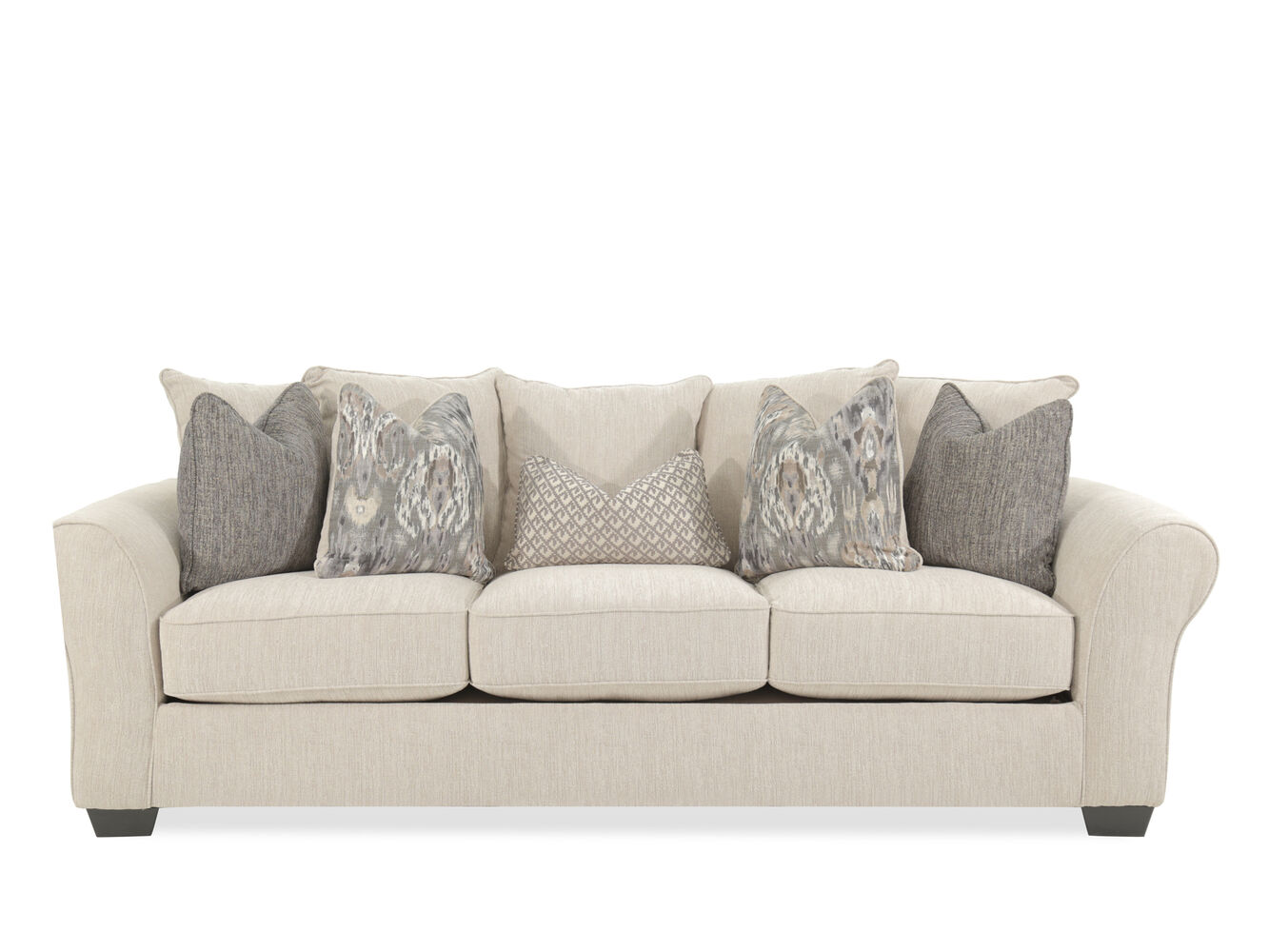 Contemporary 102 Rolled Arm Sofa In Sepia Mathis Brothers Furniture