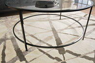 MB Home Fusionville Black Round Coffee Table