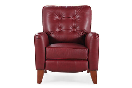 "Leather 35"" Pressback Recliner in Red"
