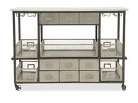 "52"" Nine-Drawer Sideboard with Stemware Racks in Silver"