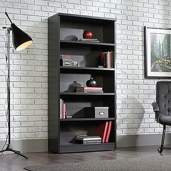 Contemporary Adjustable Shelf Open Library in Bourbon Oak