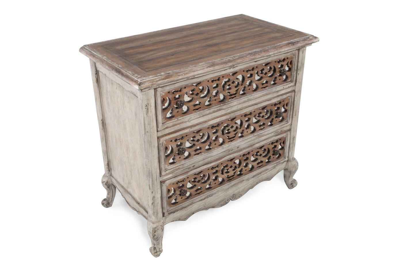 fretwork furniture. 33\u0026quot; Contemporary Solid Wood Three-Drawer Fretwork Nightstand\u0026nbsp Furniture
