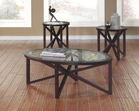 Ashley Sleffine Dark Brown Occasional Table Set