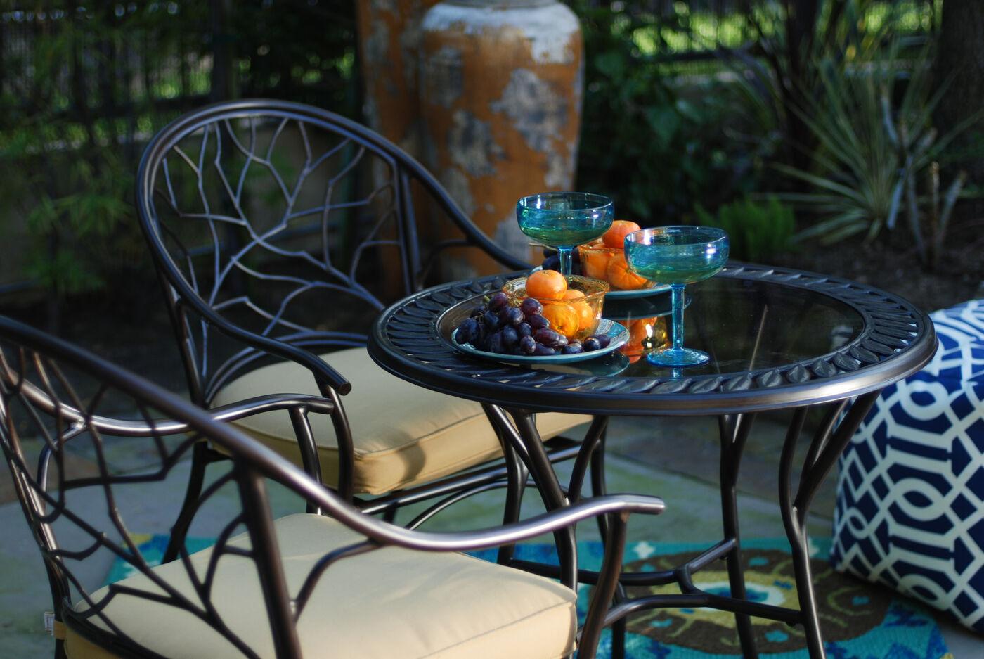 Mathis Brothers Patio Furniture agio palau three-piece bistro set | mathis brothers furniture