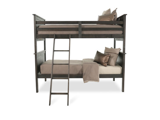 Transitional Youth Twin Bunk Bed in Brown