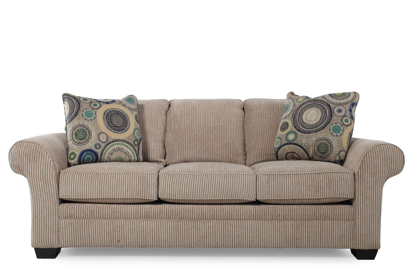 Traditional Textured Sofa In Sandstone Mathis Brothers