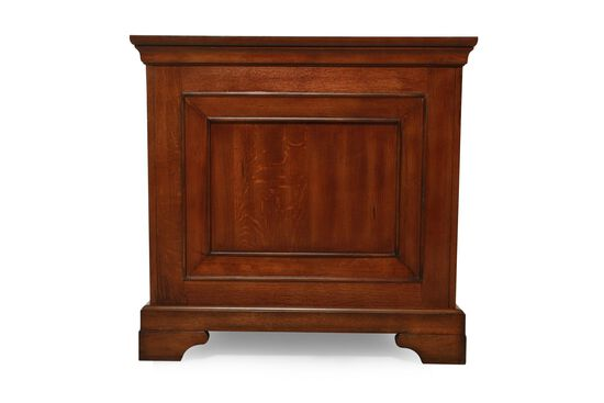 "66"" Seven-Drawer Traditional Executive Desk in Oak"