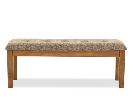 """19"""" Casual Large Dining Bench in Light Brown"""