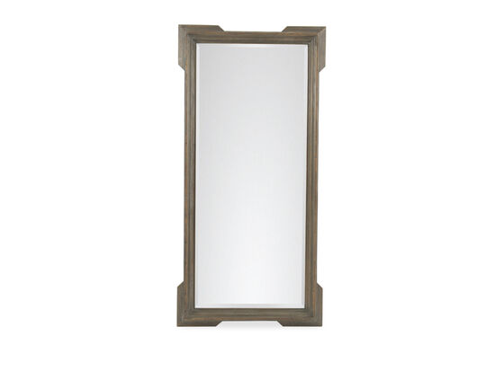 Refined Romantic Luxury Distressed Floor Mirror in Brown