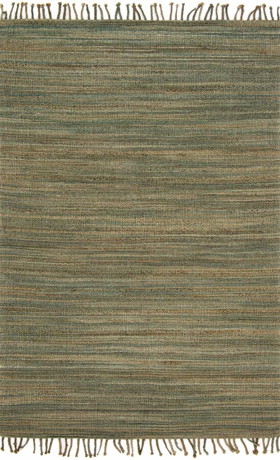 """Contemporary 2'-3""""x3'-9"""" Rug in Lagoon"""