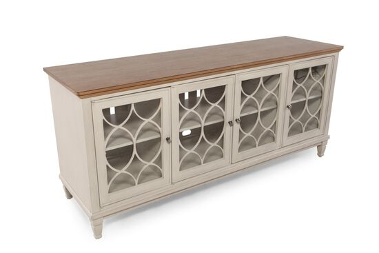 Four-Door Transitional Entertainment Console in Canvas