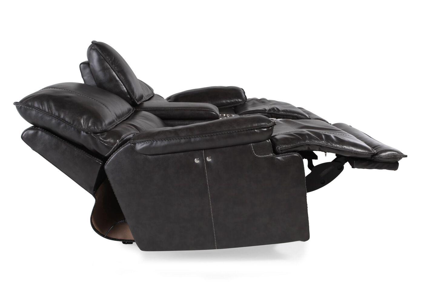 image console loveseats living mor loveseat reclining media coyotera product black room