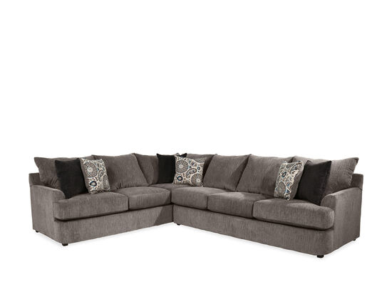 "Two-Piece Casual 102"" Sectional in Brown"