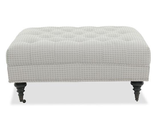 Tufted Contemporary Ottoman in Gray