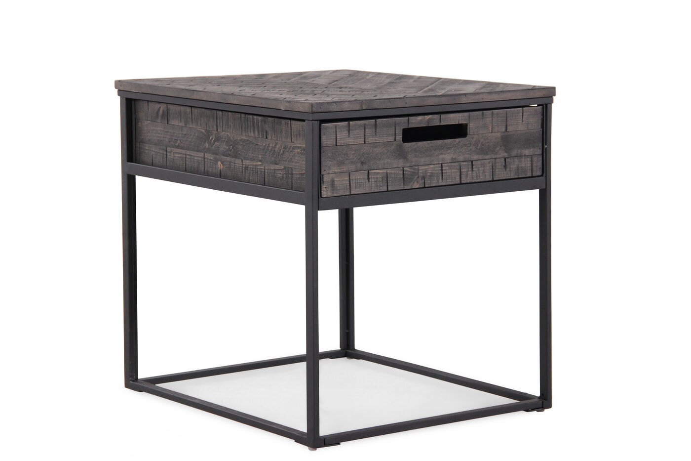 One-Drawer Contemporary End Table In Black
