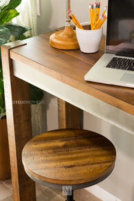"""Casual 16"""" Solid Wood Counter Table in Warm Brown"""
