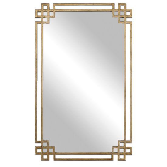 "37"" Rectangular Accent Mirror in Gold"