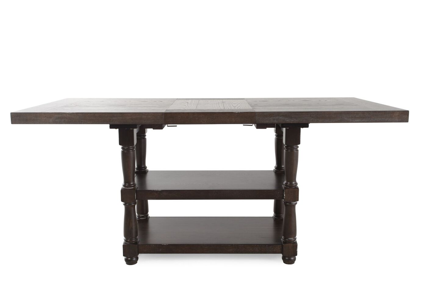Traditional 60 to 78 tall dining table in dark espresso for Tall dining table