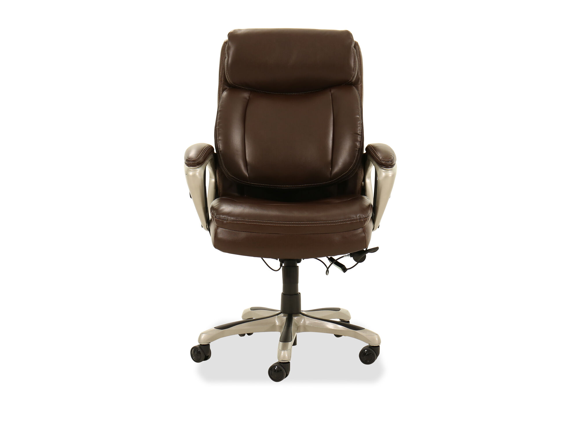 Images Casual Leather Executive Chair In Brown ...