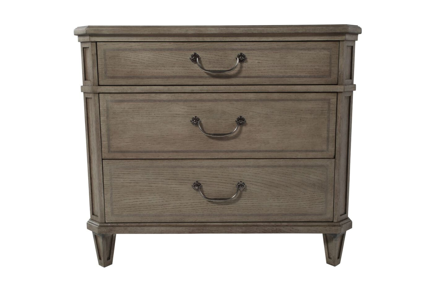 30 Refined Romantic Luxury Nightstand In Gray Cashmere Mathis Brothers Furniture