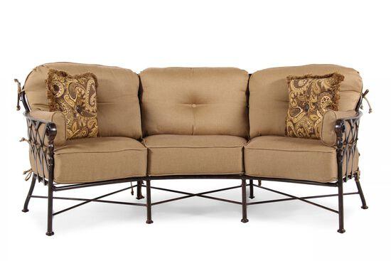 Aluminum Crescent Sofa in Tan