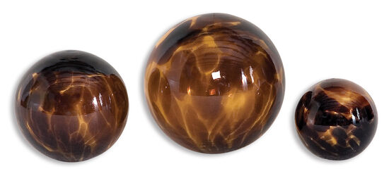 Three-Piece Glass Spheres in Brown