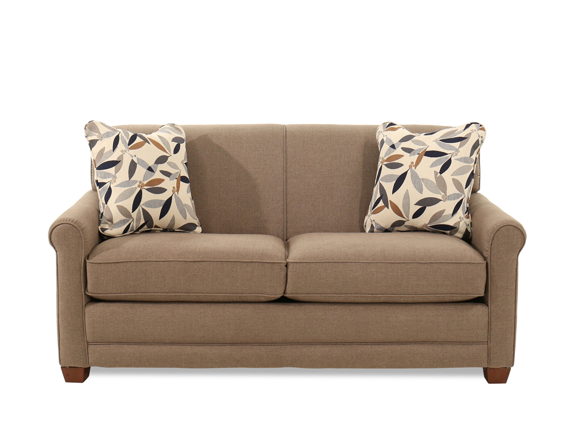 Traditional 71 Full Sleeper Sofa in Brown Mathis Brothers Furniture
