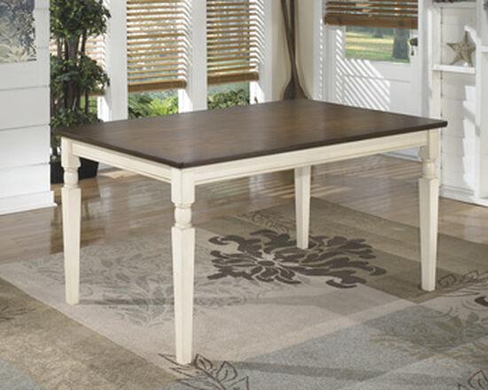 "Casual 60"" Rectangular Dining Table in Medium White"