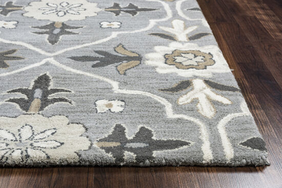 """Transitional Hand-Tufted 2'6""""  x  8' Runner Rug in Blue"""