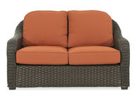 World Source Lakewood Orange Loveseat