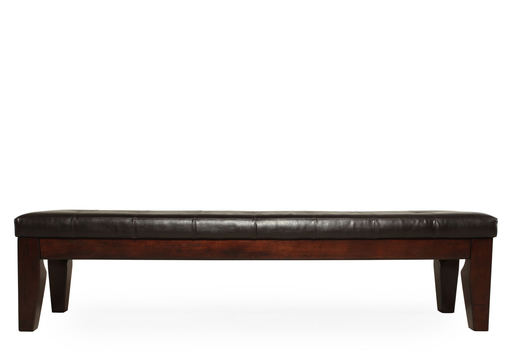 Bon Tufted 76 Dining Bench In Dark Brown Mathis Brothers Furniture
