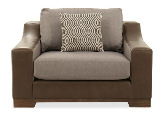 """Contemporary 52"""" Lounge Chair in Gray"""