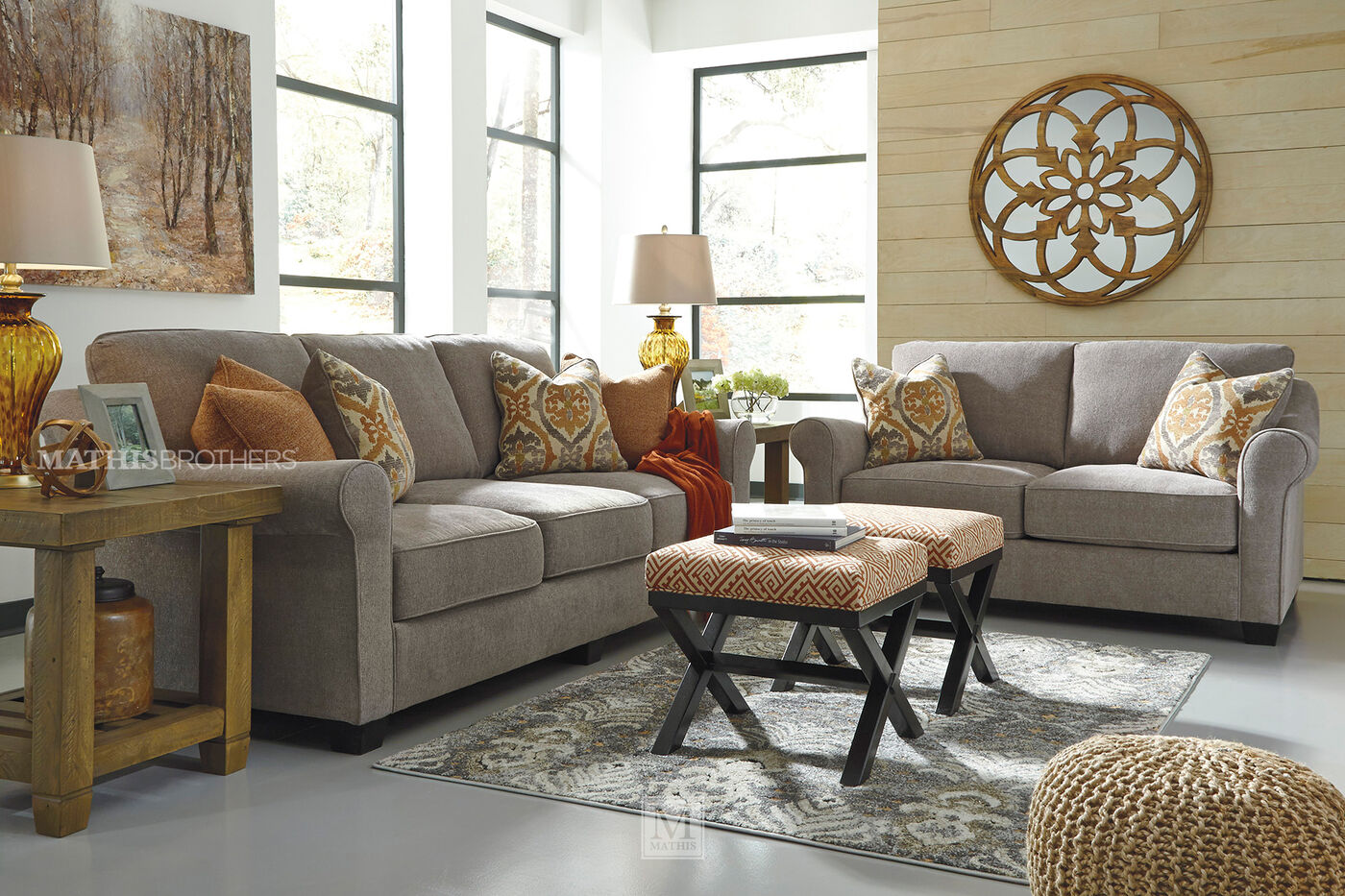 Ultra plush 95 sofa in slate mathis brothers furniture for Plush living room furniture