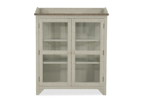 Two-Door Casual Accent Curio in Weathered White