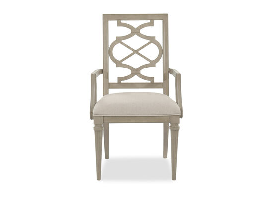 Lattice Back 39'' Arm Chair in Gray