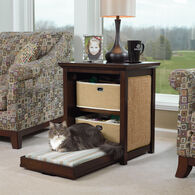 MB Home Golden Gate Espresso Side Table Cat Bed
