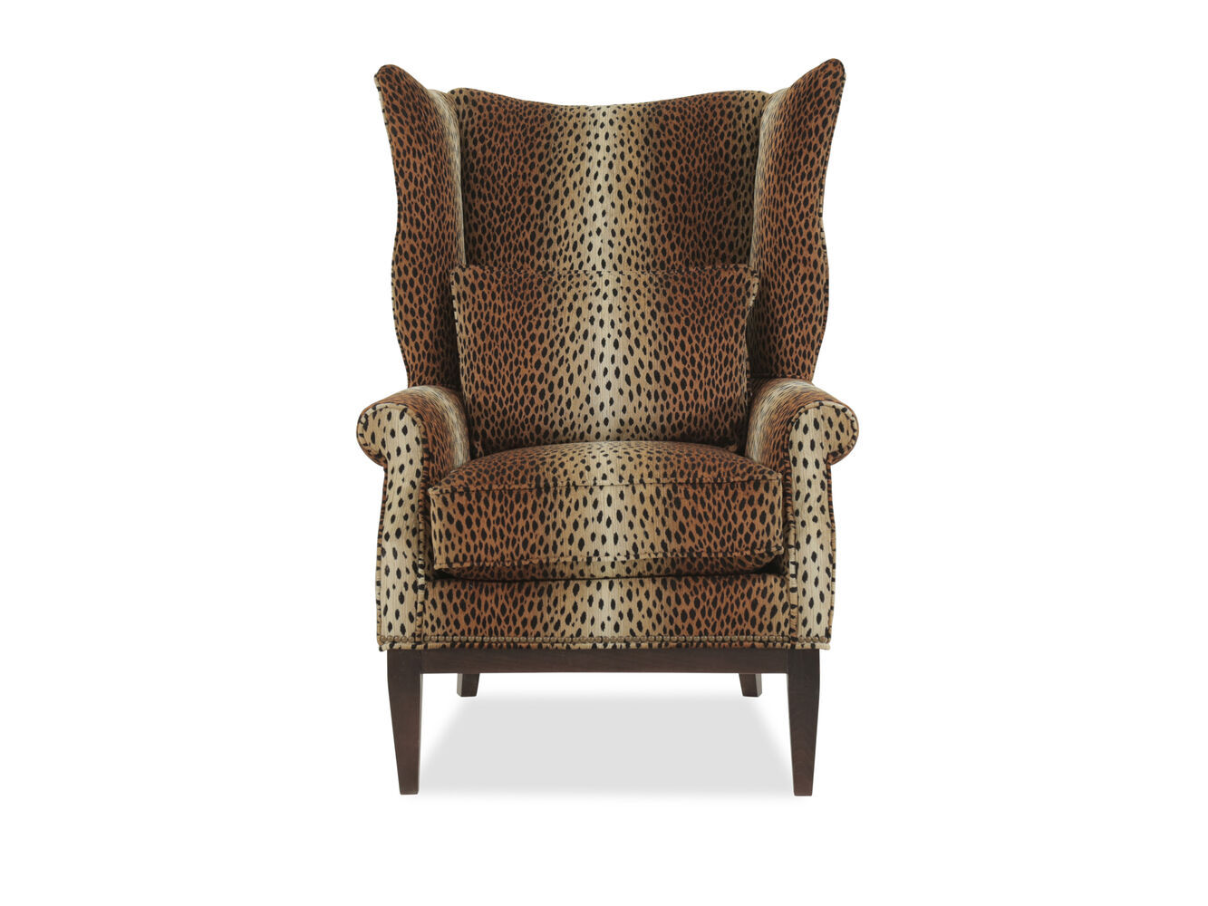 Leopard Printed Traditional 32 Quot Wing Chair Mathis