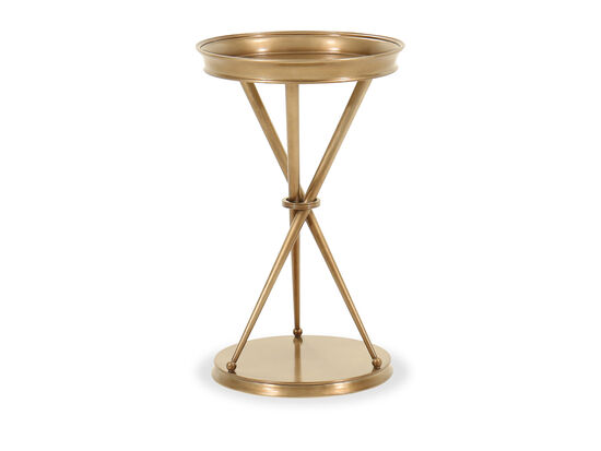 Casual Tripod-Base Chairside Table in Bronze