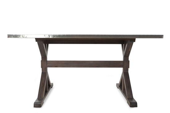 "Rustic Farmhouse 42"" Trestle Gathering Table in Medium Brown"