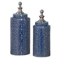 Uttermost Pero Sapphire Blue Urns S/2