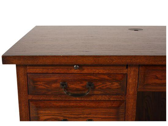 """66"""" Traditional Flat Top Desk in Oak"""