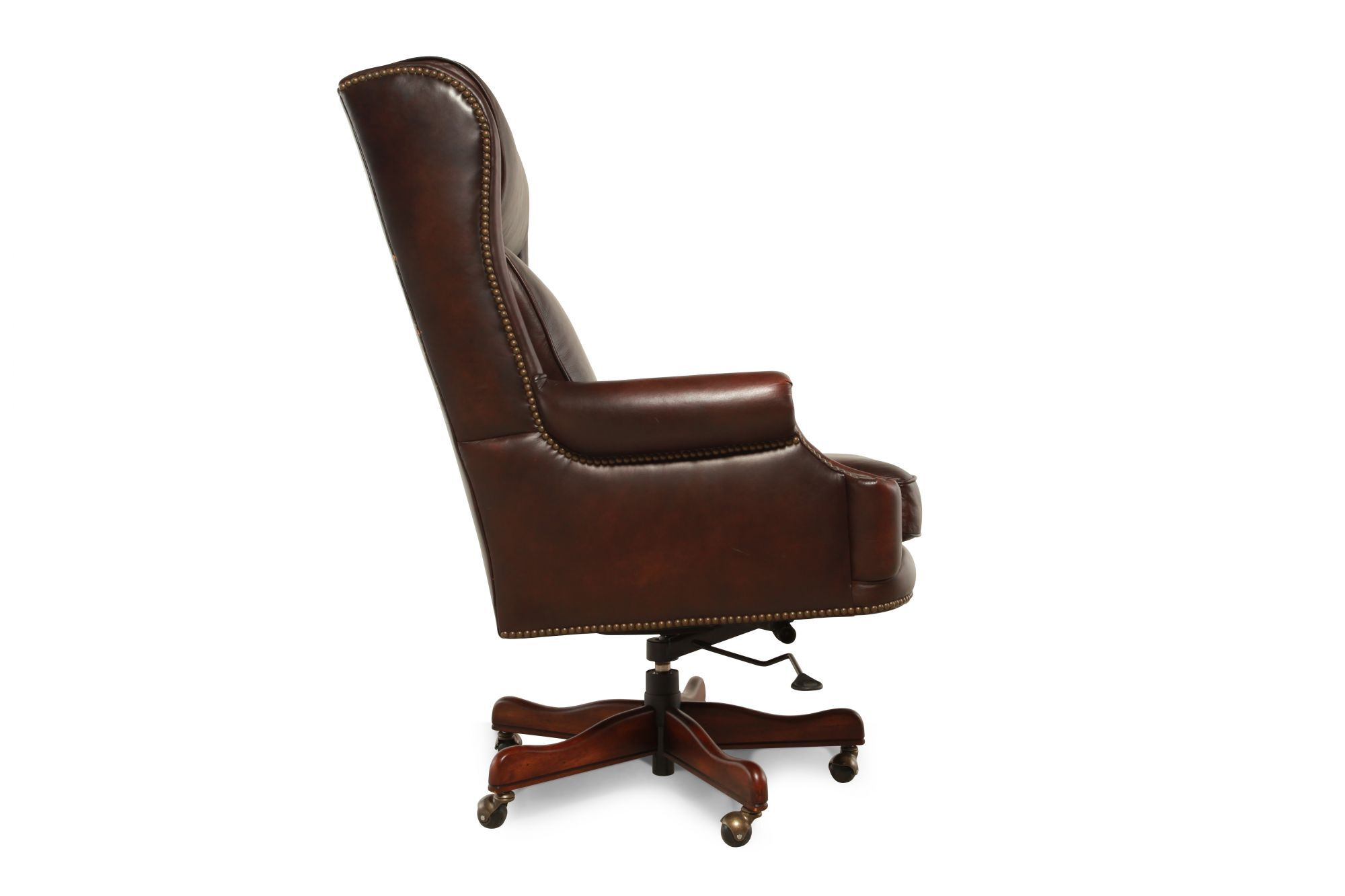 Leather Ergonomic Executive Swivel Tilt Chairu0026nbsp;in Rich Brown