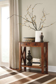 Ashley Abbonto Warm Brown Console Sofa Table