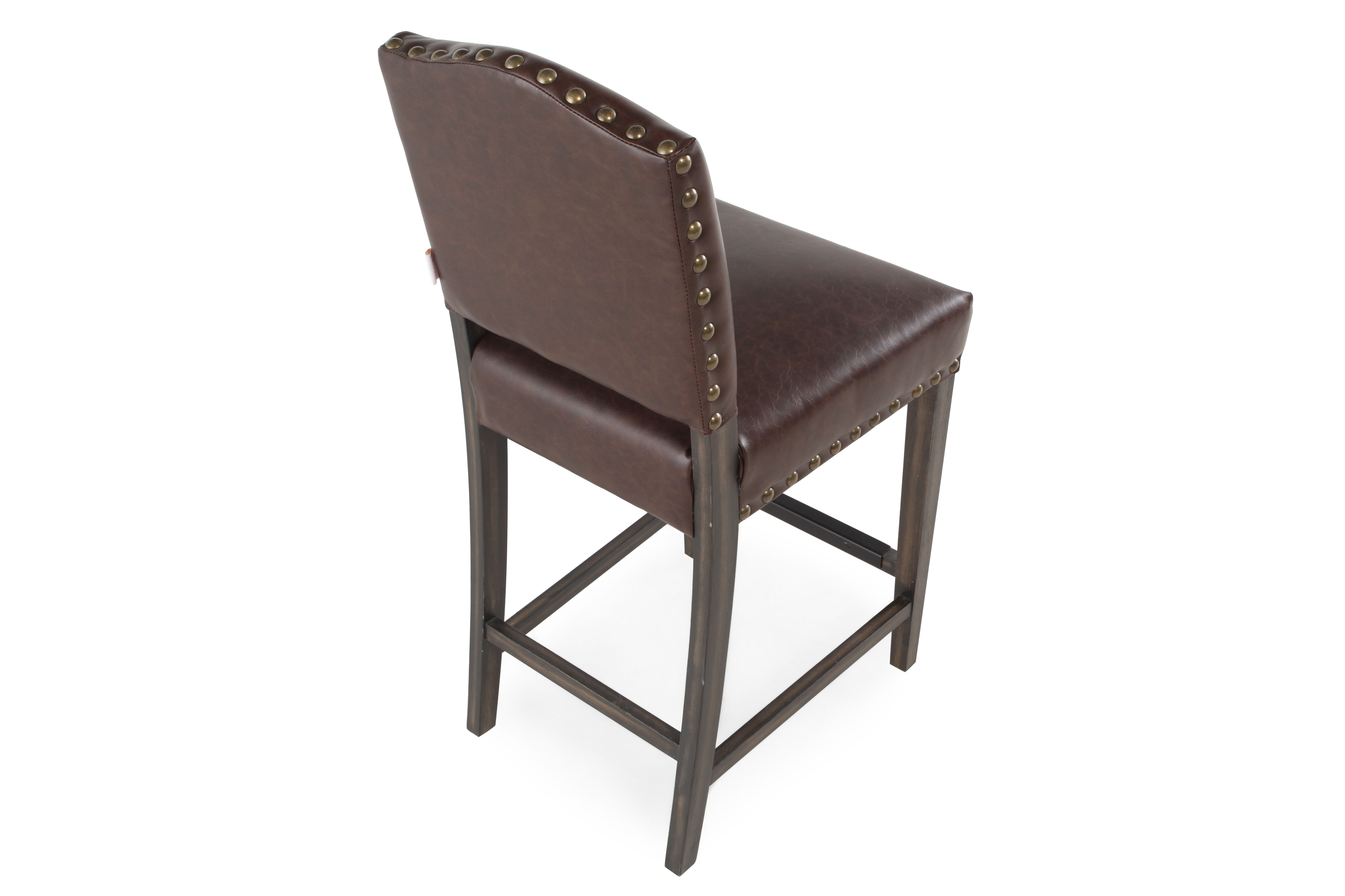 Boulevard Brown Leather Counter Stool  sc 1 st  Mathis Brothers & Boulevard Brown Leather Counter Stool | Mathis Brothers Furniture islam-shia.org