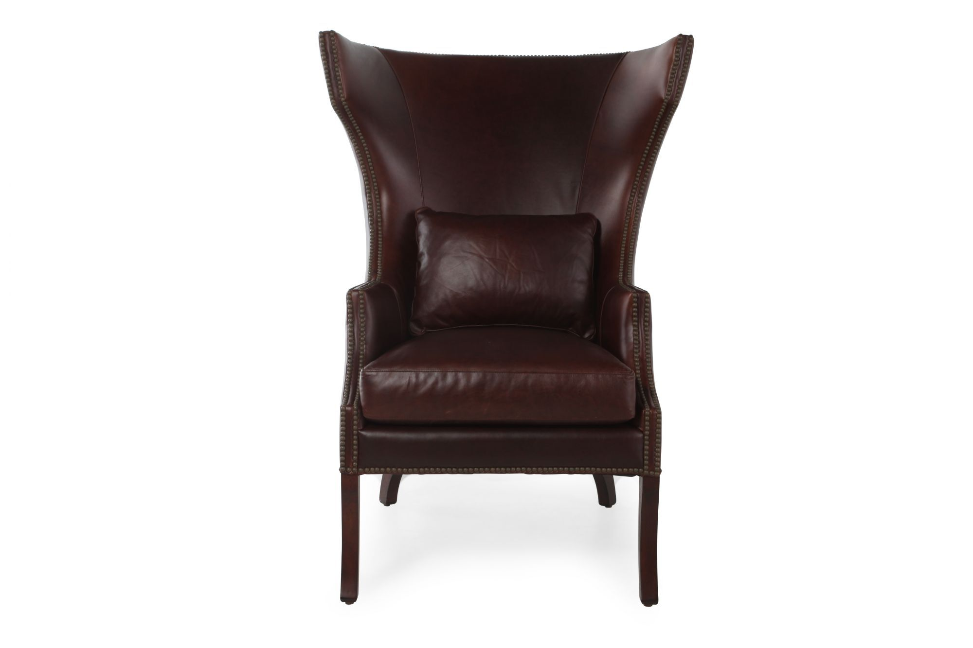 Images Winged Back Leather Chair In Burgundy Winged Back Leather Chair In  Burgundy