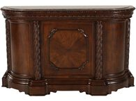 """Traditional 42"""" Bar with Pilastered Columns in Dark Brown"""