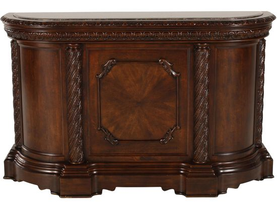 "Traditional 42"" Bar with Pilastered Columns in Dark Brown"